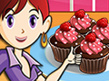 Шоколадные кексы с малиной